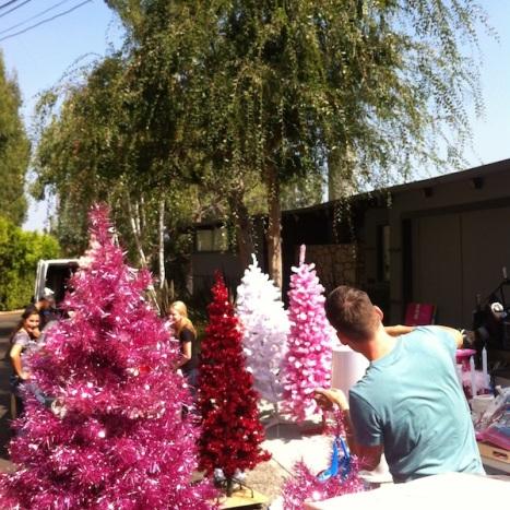 Emily pink xmas trees